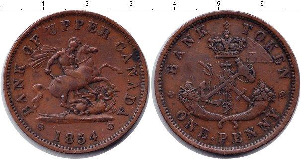 Картинка Монеты Канада 1 пенни Медь 1854