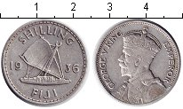 Изображение Монеты Фиджи 1 шиллинг 1936 Серебро XF Георг V