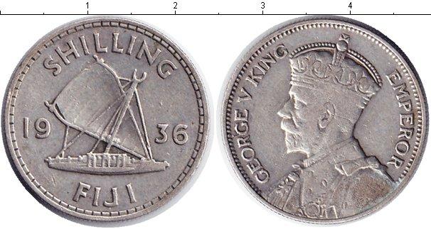 Картинка Монеты Фиджи 1 шиллинг Серебро 1936