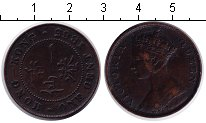 Изображение Монеты Гонконг 1 цент 1863 Медь XF Виктория