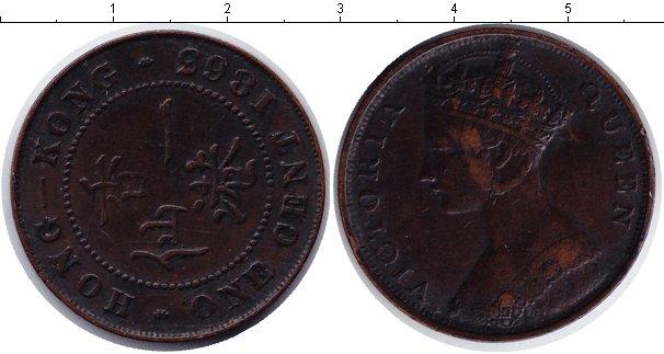 Картинка Монеты Гонконг 1 цент Медь 1863