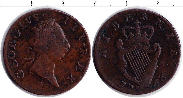 Картинка Монеты Ирландия 1/2 пенни Медь 1766