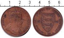 Изображение Монеты Остров Джерси 1/12 шиллинга 1909 Медь VF Эдуард VII.