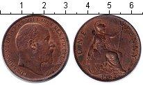 Изображение Монеты Великобритания 1 пенни 1902 Медь XF Эдуард VII.