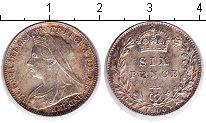 Изображение Монеты Великобритания 6 пенсов 1900 Серебро XF Виктория