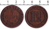 Изображение Монеты Вестфалия 5 сантим 1809 Медь XF