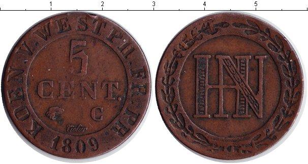 Картинка Монеты Вестфалия 5 сантимов Медь 1809