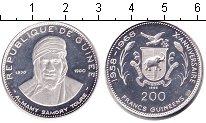Изображение Монеты Гвинея 200 франков 1969 Серебро Proof- 10-летие независимос