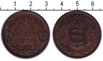 Изображение Монеты Гернси 8 дублей 1874 Медь XF