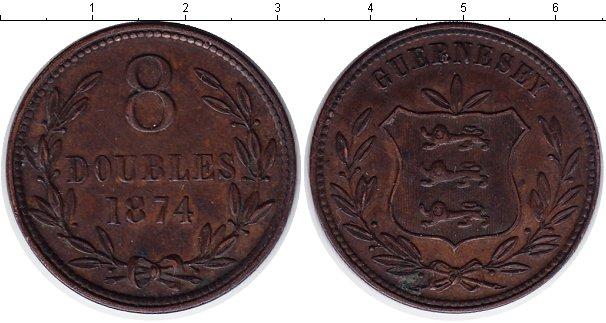 Картинка Монеты Гернси 8 дублей Медь 1874