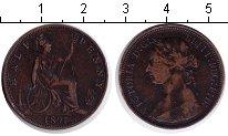 Изображение Монеты Великобритания 1/2 пенни 1891 Медь VF Виктория