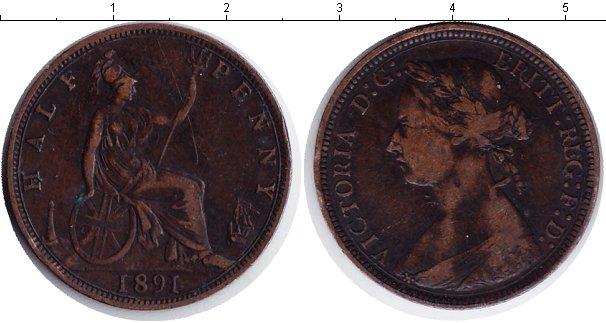 Картинка Монеты Великобритания 1/2 пенни Медь 1891