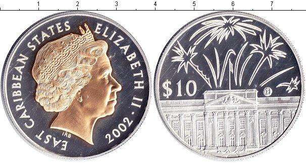 Картинка Монеты Карибы 10 долларов Серебро 2002
