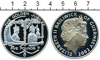 Изображение Монеты Гернси 5 фунтов 2002 Серебро Proof- Елизавета II