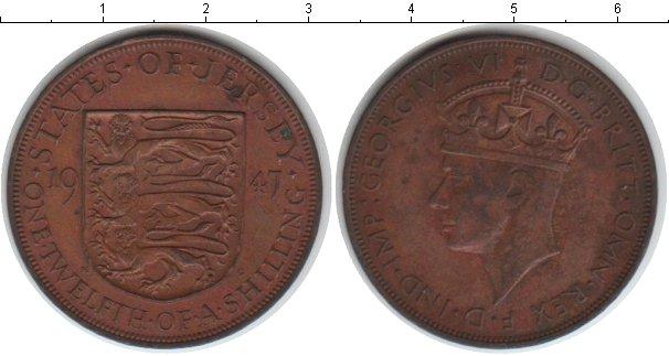 Картинка Монеты Остров Джерси 1/12 шиллинга Медь 1947