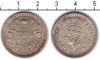 Изображение Монеты Индия 1/2 рупии 1942 Серебро XF Георг VI