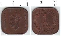 Изображение Монеты Малайя 1 цент 1945 Медь XF Георг VI