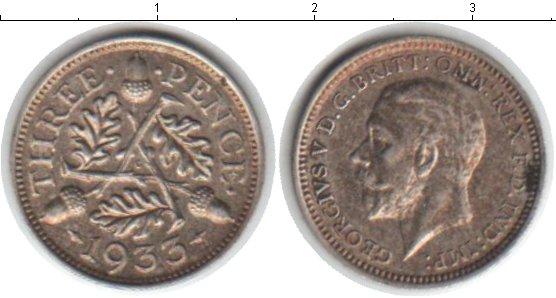 Картинка Монеты Великобритания 3 пенса Серебро 1933