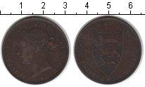 Изображение Монеты Остров Джерси 1/12 шиллинга 1888 Медь XF Виктория.