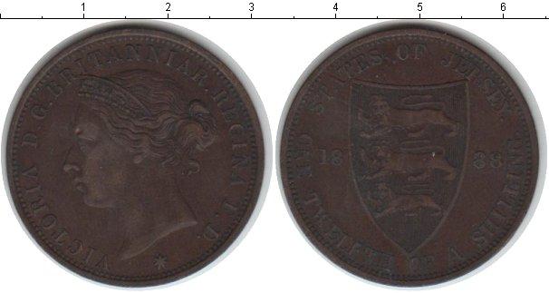 Картинка Монеты Остров Джерси 1/12 шиллинга Медь 1888