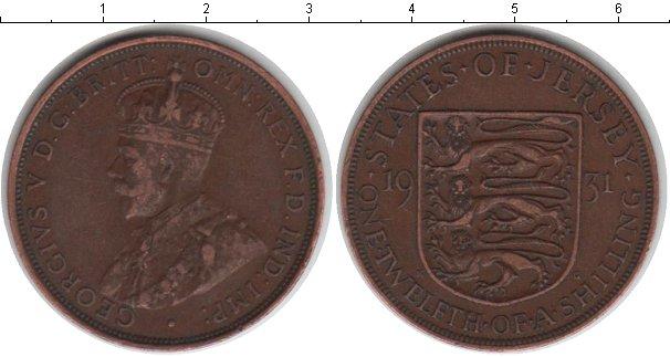 Картинка Монеты Остров Джерси 1/12 шиллинга Медь 1931