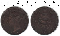 Изображение Монеты Остров Джерси 1/12 шиллинга 1881 Медь XF Виктория.