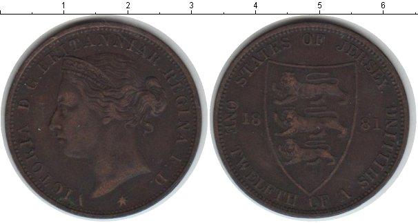 Картинка Монеты Остров Джерси 1/12 шиллинга Медь 1881