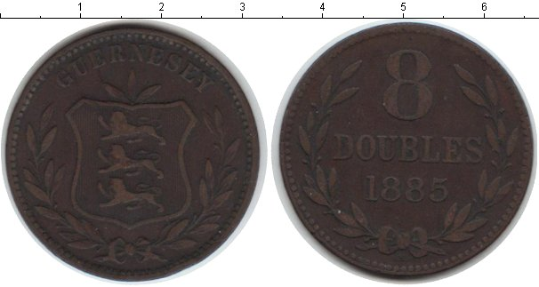 Картинка Монеты Гернси 8 дублей Медь 1885