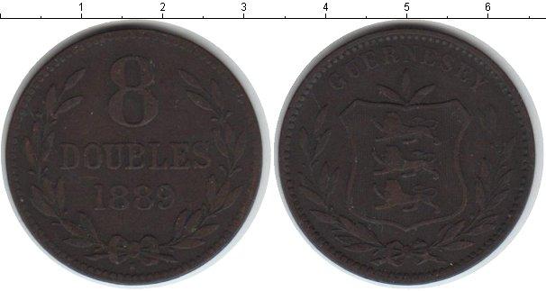 Картинка Монеты Гернси 8 дублей Медь 1889