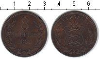 Изображение Монеты Гернси 8 дублей 1864 Медь XF