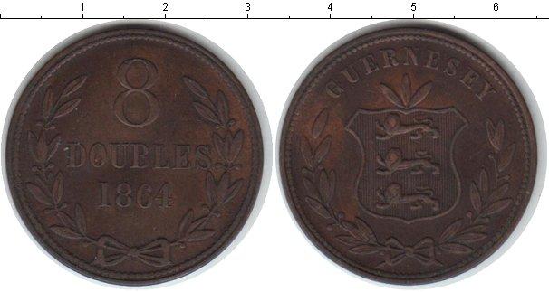 Картинка Монеты Гернси 8 дублей Медь 1864
