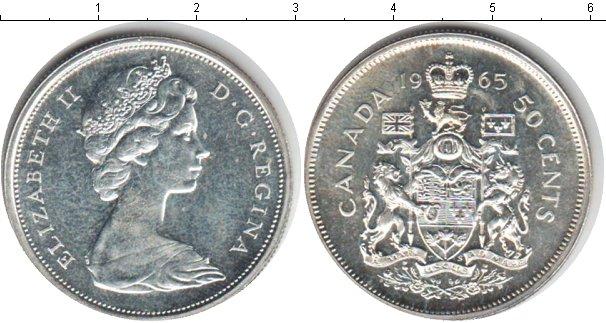Картинка Монеты Канада 50 центов Серебро 1965