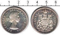 Изображение Монеты Канада 50 центов 1963 Серебро XF Елизавета II.