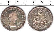 Изображение Монеты Канада 50 центов 1964 Серебро XF Елизавета II.