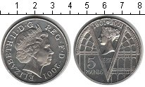 Изображение Монеты Великобритания 5 фунтов 2002 Медно-никель XF 100 лет со дня смерт