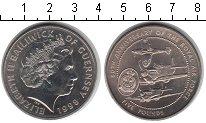 Изображение Монеты Гернси 5 фунтов 1998 Медно-никель XF 80 лет Королевским в