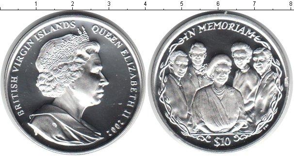 Картинка Монеты Виргинские острова 10 долларов Серебро 2002