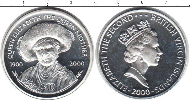 Картинка Монеты Виргинские острова 10 долларов Серебро 2000
