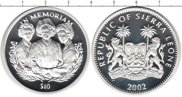 Картинка Монеты Сьерра-Леоне 10 долларов Серебро 2002
