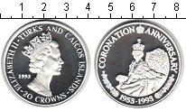 Изображение Монеты Великобритания Теркc и Кайкос 20 крон 1993 Серебро Proof