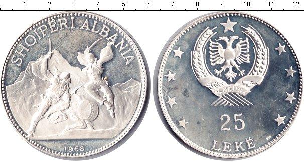 Картинка Монеты Албания 25 лек Серебро 1968