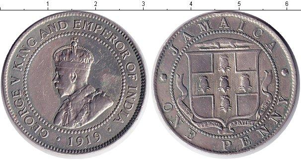 Картинка Монеты Ямайка 1 пенни Медно-никель 1919