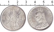 Изображение Монеты Великобритания 1 флорин 1887 Серебро UNC- Виктория