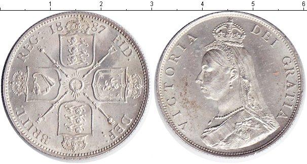 Картинка Монеты Великобритания 1 флорин Серебро 1887