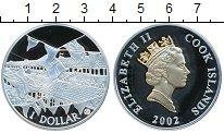 Изображение Монеты Острова Кука 1 доллар 2002 Серебро Proof- Елизавета II