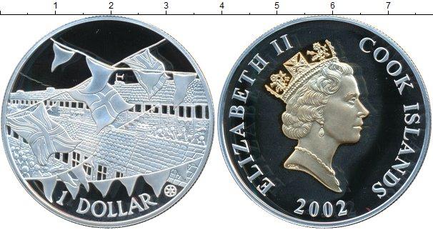 Картинка Монеты Острова Кука 1 доллар Серебро 2002