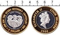 Изображение Монеты Острова Кука 5 долларов 2000 Серебро Proof-