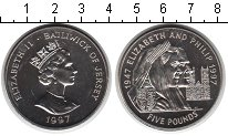 Изображение Монеты Остров Джерси 5 фунтов 1997 Медно-никель