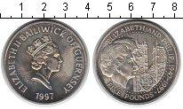 Изображение Монеты Гернси 5 фунтов 1997 Медно-никель