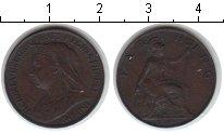 Изображение Монеты Великобритания 1 фартинг 1898 Медь XF